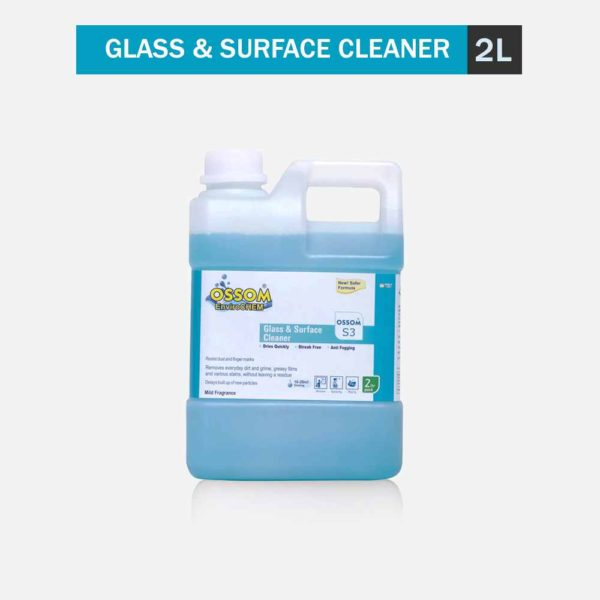 Ossom S3 - Glass and Surface Cleaner Concentrate   Anti-Fog