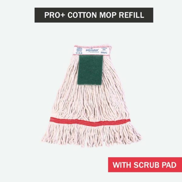Springmop Pro+ Cotton Mop Refill With Scrub Pad - Red Code