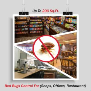 Bed Bugs Control for Shops Offices Restaurant up to 200 sq. ft. area by Hygienedunia