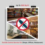 Termite Control (Shops, Offices, Restaurant ) Up To 500 Sq. Ft.