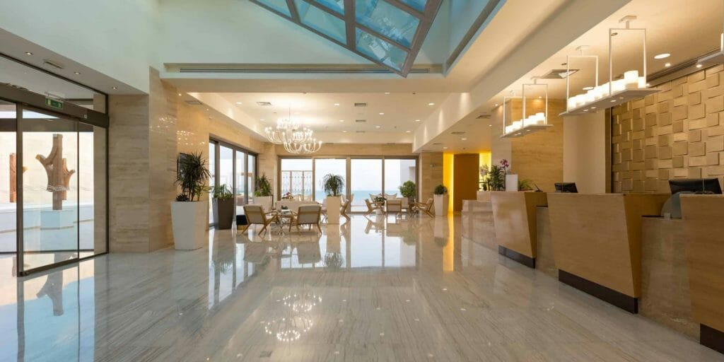 Grand Hotel Lobby With Reception