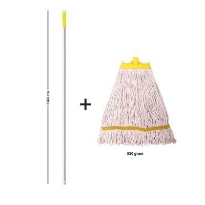 Wet Mops for Floors - SpringMop Smart Wet Mop Set; AL350, Yellow Code