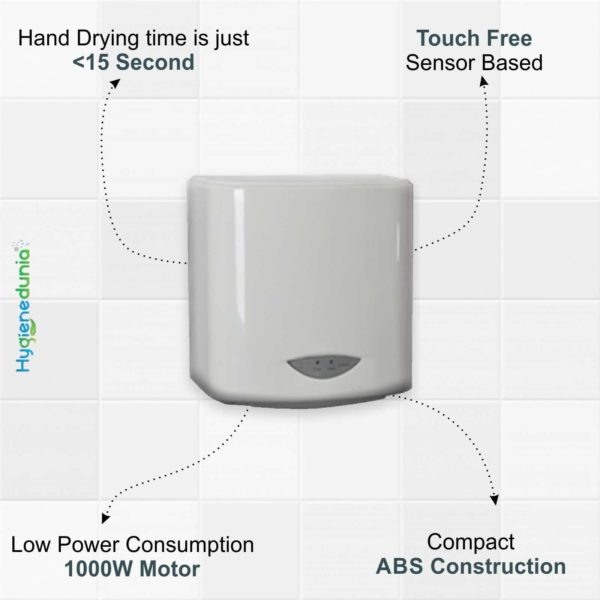 Automatic Hand Dryer Quick Dry 1000W Hand Dryer