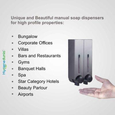 RICH Soap Dispenser 250 Duo Grey Slim Design OSSOM®