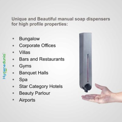 Ossom RICH Soap Dispenser 500 Grey Wall Mounted