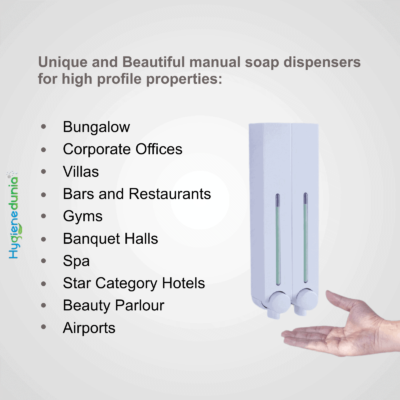 Rich Soap Dispenser 500 Duo White Wall Mounted Ossom®