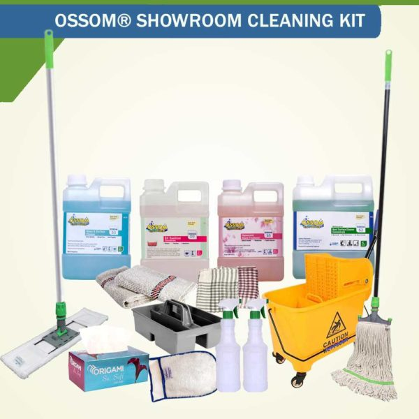 OSSOM® Showroom Cleaning Supplies Kit | Professional Quality Products for Daily Cleaning